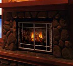 gas fireplace from Mendota